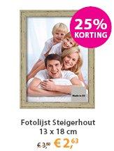 Fotolijsten Steigerhout 13x18cm Aanbieding
