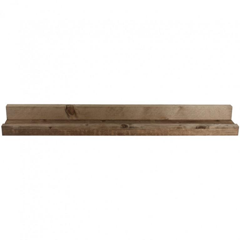 Plank Met Opstaande Rand.Foto Wandplank Steigerhout 100cm