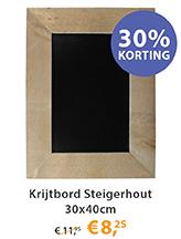 Krijtbord Steigerhout 30x40cm