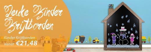 Kinderkrijtbord steigerhout huis