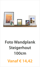 Foto Wandplank Steigerhout 100cm