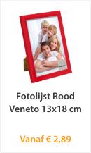 Fotolijst Rood Veneto 13x18cm